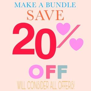 Bundle my items and save 20% Will consider offers!